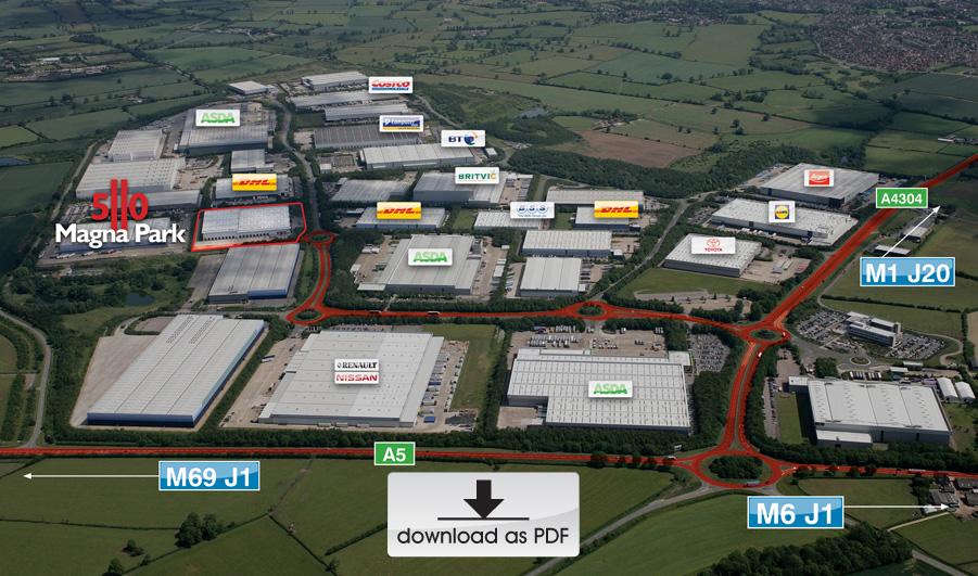 Magna Park Aerial View